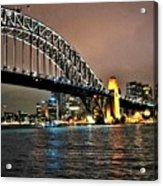 Sydney Harbor Bridge Night View Acrylic Print