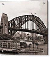 Sydney Harbor Bridge Platinum Acrylic Print