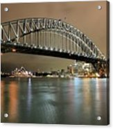 Sydney Harbour At Night Acrylic Print