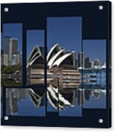 Sydney Harbour Collage Acrylic Print