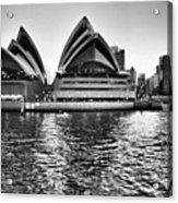 Sydney Opera House-black And White Acrylic Print