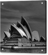Sydney Opera House Print Image In Black And White Acrylic Print
