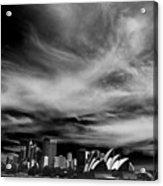 Sydney Skyline With Dramatic Sky Acrylic Print