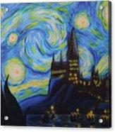 Syfy- Starry Night In Hogwarts Acrylic Print