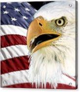 Symbol Of America Acrylic Print by Teresa Zieba