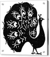 Symbol: Peacock Acrylic Print