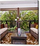 Symmetrical Balcony Acrylic Print
