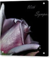 Sympathy Card With A Rose Acrylic Print