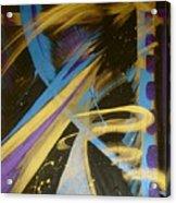 Blue Symphony On Black II Acrylic Print