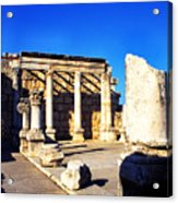 Synagogue In Ancient Capernaum Acrylic Print