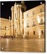 Syracuse, Sicily, Italy - Ortigia Downtown In Syracuse By Acrylic Print