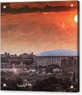 Syracuse Sunrise Over The Dome Acrylic Print