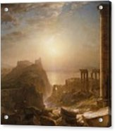 Syria By The Sea Acrylic Print by Frederic Edwin Church