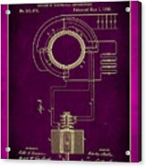System Of Electrical Distribution Patent Drawing 2c Acrylic Print