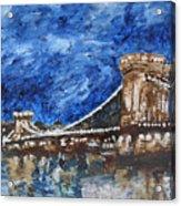 Szechenyi Chain Bridge Budapest Acrylic Print