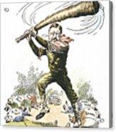 T. Roosevelt Cartoon, 1904 Acrylic Print