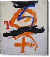 T S Notebook  Acrylic Print