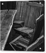 Table And Chairs Husavik Iceland 3767 Acrylic Print