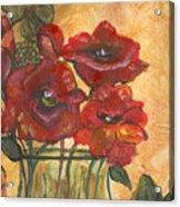 Table Flowers Acrylic Print