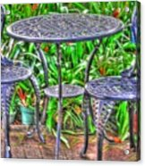 Table For Two Acrylic Print