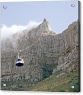 Table Mountain Cable Car Acrylic Print