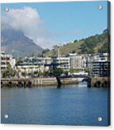 Table Mountain From The V And A Waterfront Quays Acrylic Print