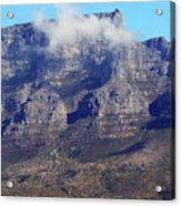 Table Mountain In The Clouds Acrylic Print