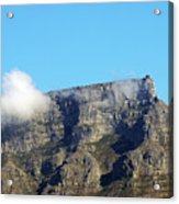 Table Mountain - Still Life With Blue Sky And One Cloud Acrylic Print