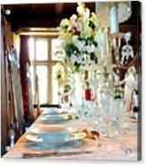 Table Setting Acrylic Print
