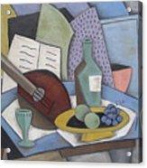 Table With Mandolin Acrylic Print