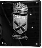 Tableau Sign In Black And White Acrylic Print