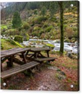 Tables By The River Acrylic Print