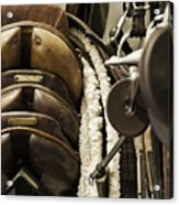 Tac Room Saddles Acrylic Print