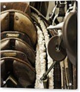 Tac Room Saddles Acrylic Print by John Greim
