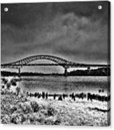 Tacony Palmyra Bridge In B And W Acrylic Print