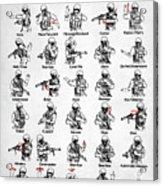 Tactical Hand Signals Acrylic Print