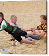 Tag Beach Rugby Competition Acrylic Print by David  Hollingworth