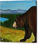 Taggart Lake Bears Acrylic Print