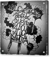 Tagging Acrylic Print