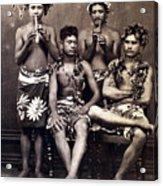Tahiti: Men, C1890 Acrylic Print