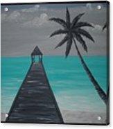 Tahitian Blue Acrylic Print