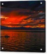 Tahoe Boat Ride Acrylic Print