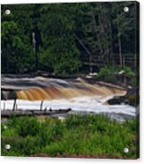 Tahquamenon Lower Falls Upper Peninsula Michigan 04 Acrylic Print
