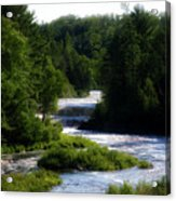 Tahquamenon Lower Falls Upper Peninsula Michigan 12 Acrylic Print