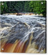 Tahquamenon Lower Falls Upper Peninsula Michigan Vertical 01 Acrylic Print