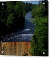 Tahquamenon Lower Falls Upper Peninsula Michigan Vertical 07 Acrylic Print