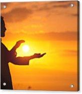 Tai Chi At Sunset Acrylic Print by Joe Carini - Printscapes