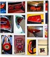 Tail Light Collage Number 1 Acrylic Print