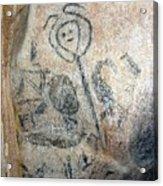 Taino Spirit Of The Sun - Prehistoric Caribbean Taino Indian Cave Painting Acrylic Print by Ramon A Chalas-Soto