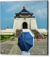 Taipei Lady Umbrella Acrylic Print